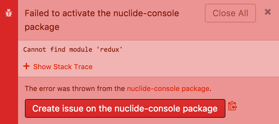 Troubleshooting Nuclide